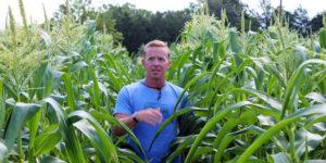 farmer David Sours in corn field